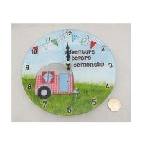 Wall Clock/Wall Hanging Clock - CARAVAN - ADVENTURE/DEMENTIA