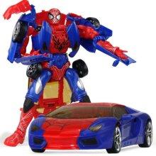 Transformation Superheroes Spider Man Car Robot Action Figure Toy