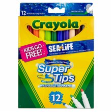 Crayola Supertips Bright Washable Lavable Markers - Pack of 12