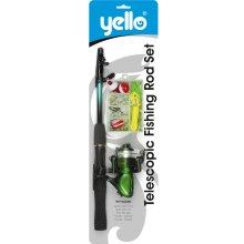 Yello Telescopic Junior Fishing Rod Set