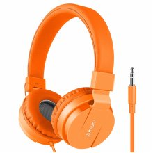 Premium Gorsun Kids Headphones Over Ear, foldable Headphones for Kids, lightweight Children Headphones-Orange