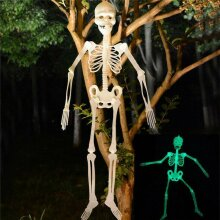 Halloween Hanging Skeleton Luminous Scary Props Outdoor Party Decoration