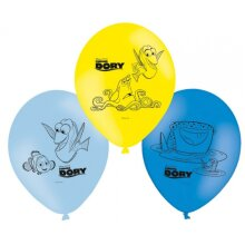 balloons Finding Dory22,8 cm latex blue/yellow 6 pieces