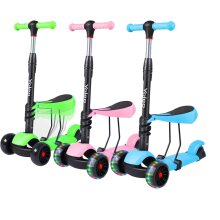 Yoleo 3-In-1 Outdoor Kids' Push Scooter With Removable Seat
