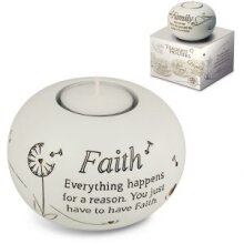 Said with Sentiment - Tealight Holder - Faith