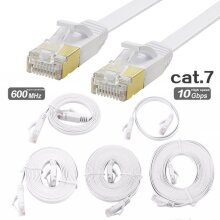 Flat CAT7 Ethernet LAN Network 10Gbps Internet Patch Cable Lead