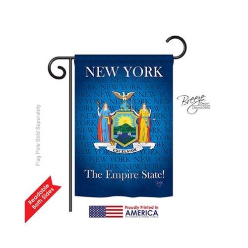 Breeze Decor 58147 States New York 2-Sided Impression Garden Flag - 13 x 18.5 in.