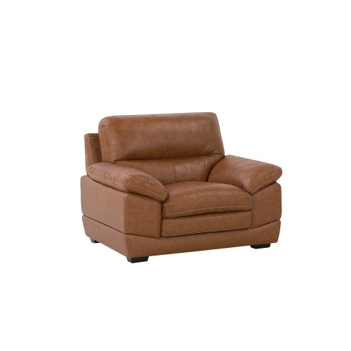 Leather Armchair Golden Brown HORTEN