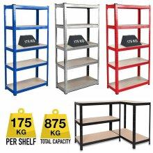 Garage Racking 5 Tier Shelving Unit Shelf Shed Storage
