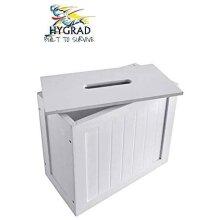 Bamboo Wood Slimline Bathroom Tissue Rolls Spray Storage Unit Cabinet