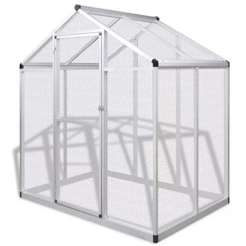 vidaXL Outdoor Aviary Aluminium 178x122x194cm Bird Cage House Garden Habitat