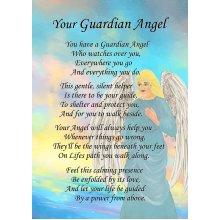 "Guardian Angel Poem Verse Greeting Card 8""x5.5"""
