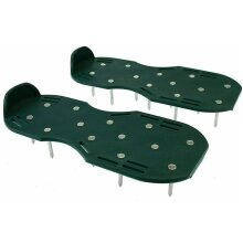 GARDEN LAWN AERATOR HEAVY DUTY SPIKED STRAP ON SHOES HELPS ROOTS REDUCE MOSS