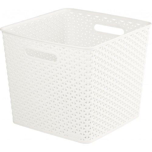 Curver Nestable Rattan Basket White 25L [196862]