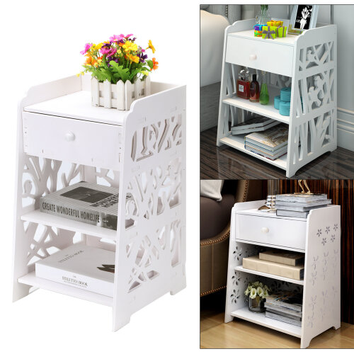 Bedside Table Cabinet Chest of Drawers Nightstand