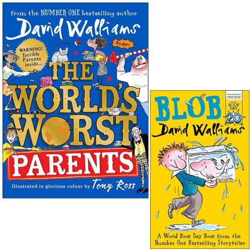 World's Worst Parents & Blob By David Walliams 2 Books Collection Set