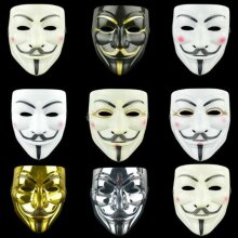 Vendetta Guy Fawkes Hacker Face Mask Adults Halloween Fancy Party Cosplay