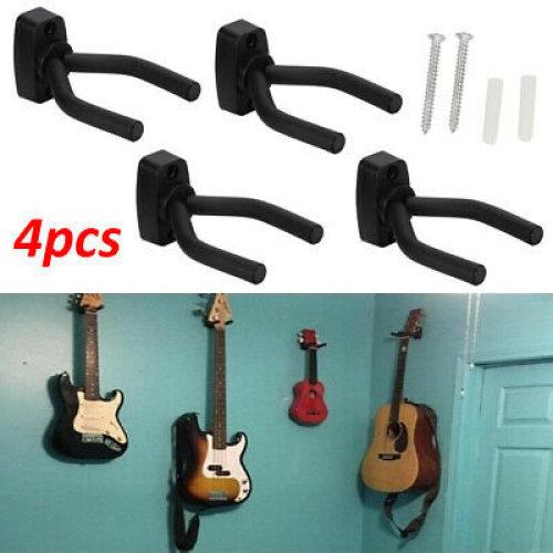 Adjustable 4X Guitar Hanger Wall Mount Bracket Hook Holder Stands