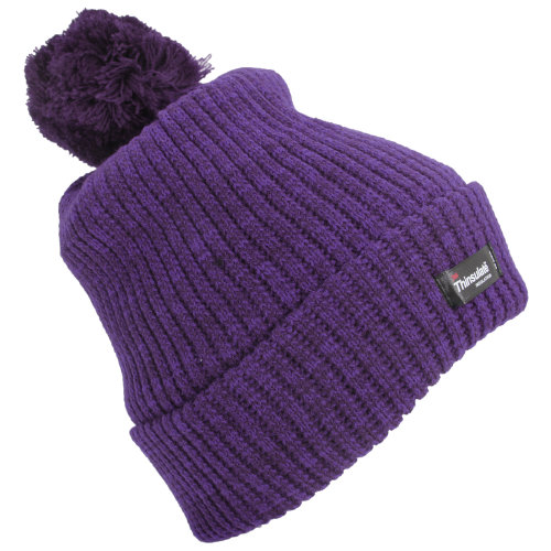 (One Size, Purple) Womens/Ladies Thinsulate Pom Pom Thermal Winter Hat (3M 40g)