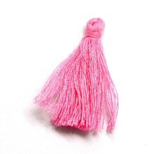 Silky Cotton Tassels Bright Pink 3cm Pack Of 10
