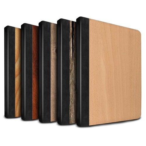 Wood Grain Effect/Pattern Apple iPad 9.7 2018/6th Gen Tablet Case Flip Faux Book PU Leather Cover for Apple iPad 9.7 2018/6th Gen