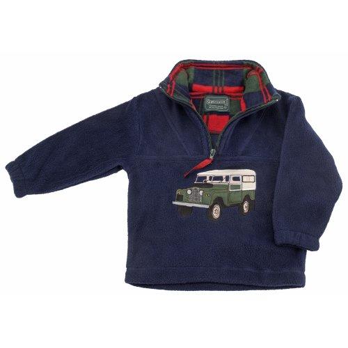 Childrens Landrover Defender Navy Fleece Sweater