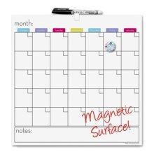 The Board Dudes BDU13759WA4 Cubicle Calendar Board  Dry- erase  Magnetic  14 in. W x .5 in. D x 14 in. H