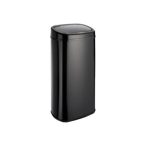 (68L, Black) Dihl Round Onyx Automatic Sensor Bin with Black Lid