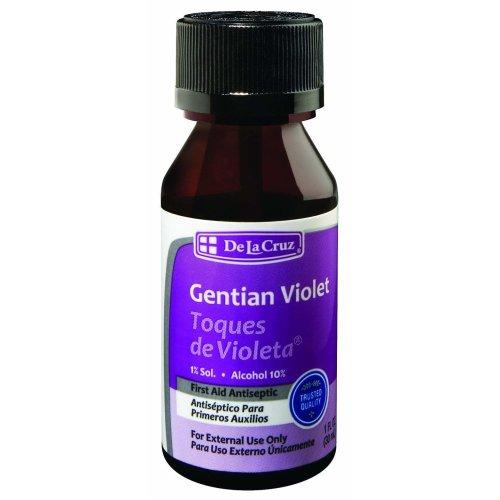 De La Cruz, Gentian Violet, First Aid Antiseptic, 1 fl oz (30 ml)
