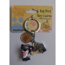 Arora Little Paws Keyring / Bag Charm - Border Collie