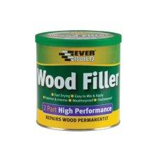 Everbuild 2 Part High Performance Wood Filler Stainable Light 1.4kg