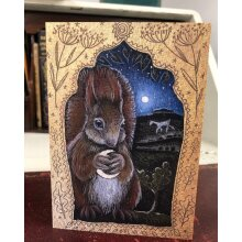 The Silver Moon Greetings card by Hannah willow