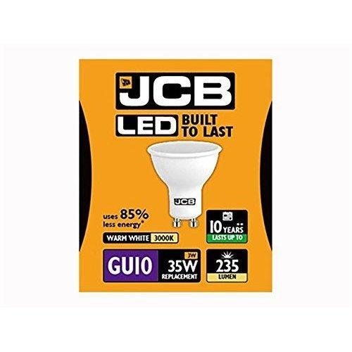 1 X JCB 3w = 35w LED GU10 3000k 3w 35w 100deg Warm White[Energy Class A+]