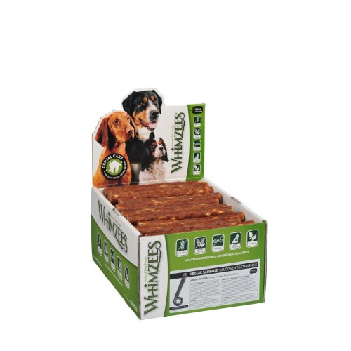 Whimzees Veggie Sausage Large 60g Display Box (Pack of 50)