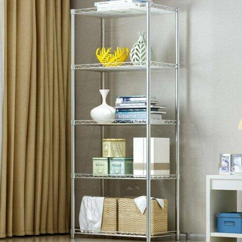 5 Tier Storage Rack/Shelving Wire Shelf Kitchen/Office Stand