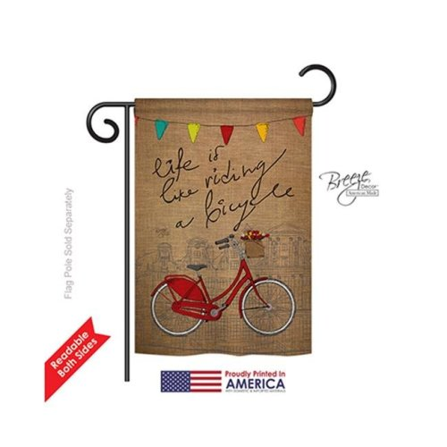 Breeze Decor 59044 Sports Bicycle Life 2-Sided Impression Garden Flag - 13 x 18.5 in.