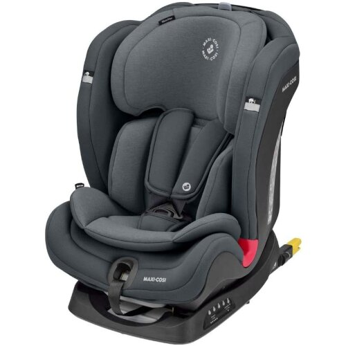 Maxi-Cosi Titan Plus Comfortable Toddler/Child Car Seat with ClimaFlow, Group 1-2-3 Convertible with ISOFIX, 9 Months - 12 Years, Authentic Graphite