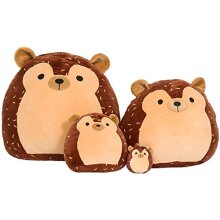 """SQUISHMALLOW 992056 Hans The Hedgehog Pillow Stuffed Animal, 16"""", Brown"""
