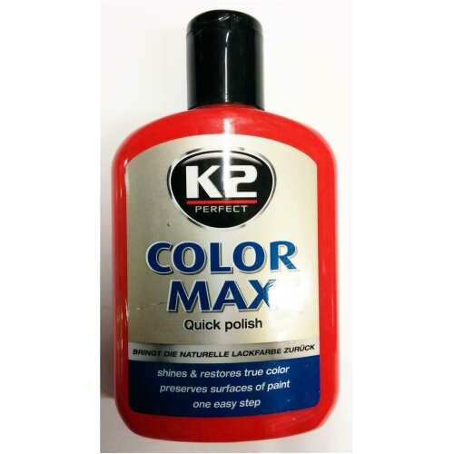 CAR PAINT RED COLOR POLISH RESTORES SHINES FILLS SCRATCH STONE CHIPS CARNAUBA