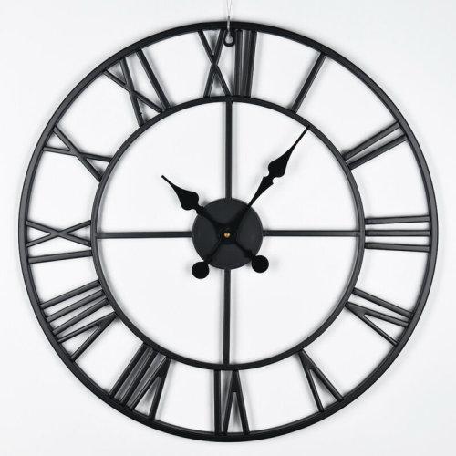 XL 60cm Roman Numeral Clock | Skeleton Wall Clock