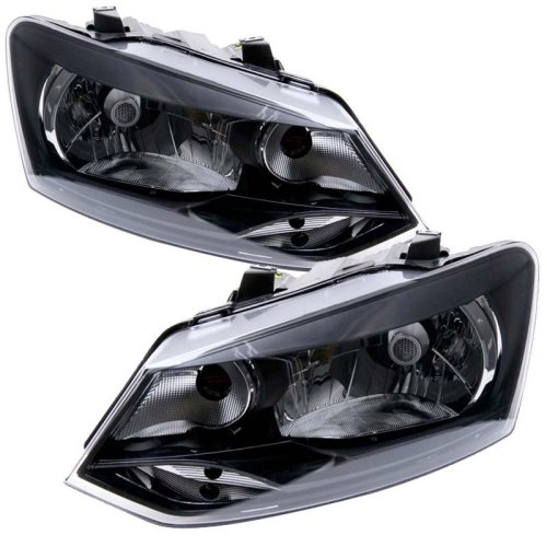 Volkswagen Polo 6r 2009-2014 Headlight Headlamps 1 Pair O/s & N/s