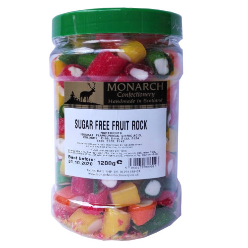 Monarch Sugar Free Fruit Rock  1.2kg Jar