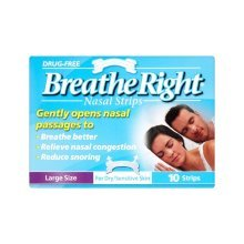 Breathe Right Nasal Strips Clear - 10 Large