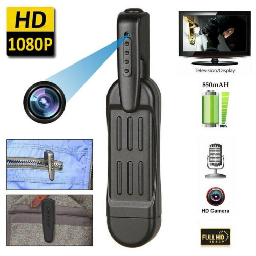Mini T189 HD 1080P Camera Wearable Pen Video Voice Recorder Camcorder