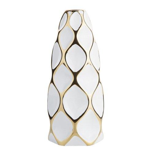 Flower Vase White with Gold AVILA