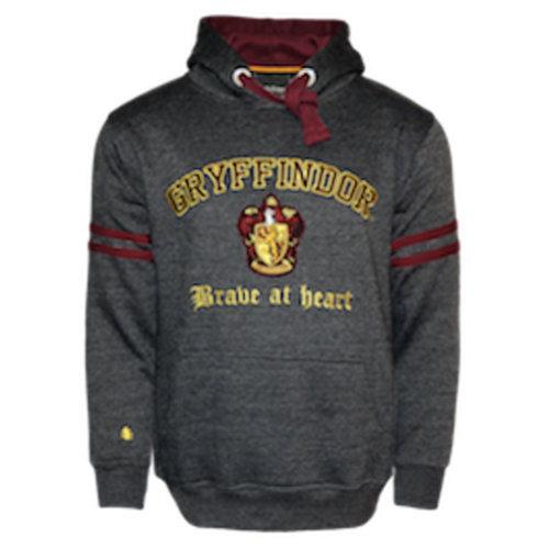 Licensed Unisex Gryffindor Hooded Sweatshirt-Charcoal