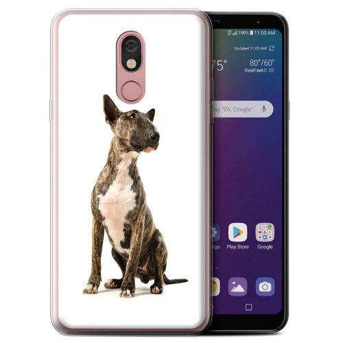 (Bull Terrier) Dog Breeds LG Stylo 5 Phone Case Transparent Clear Ultra Soft Flexi Silicone Gel/TPU Bumper Cover for LG Stylo 5