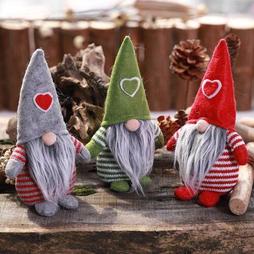 (Grey Gonk ) Christmas Male Gonk Gnome Festive Decoration