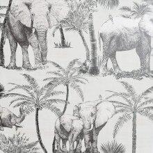 Arthouse Artistick Elephant Grove Charcoal Wallpaper Peel & Stick Self Adhesive