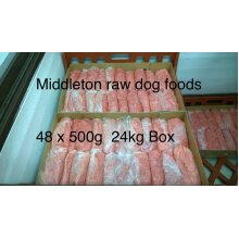 Dog Food Frozen Chicken Mince 48x500g bags 24kg box. next day delivery